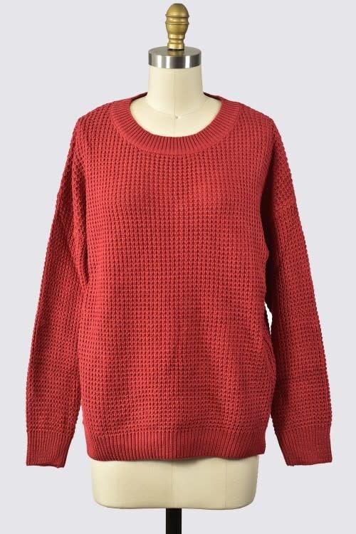 Trend Shop L/S knit sweater top