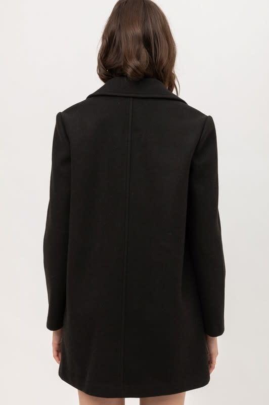 Trend Shop Fleece single breasted coat
