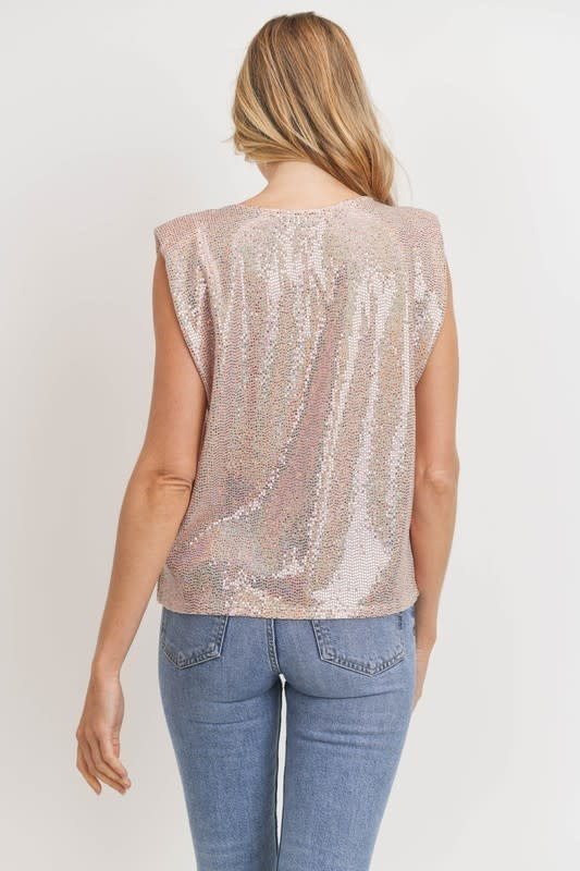 American Fit Sequin tank