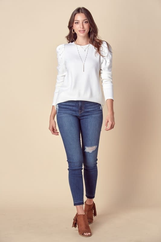 American Fit Pearl detailed sweater