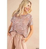 Kori America Burn out leopard top