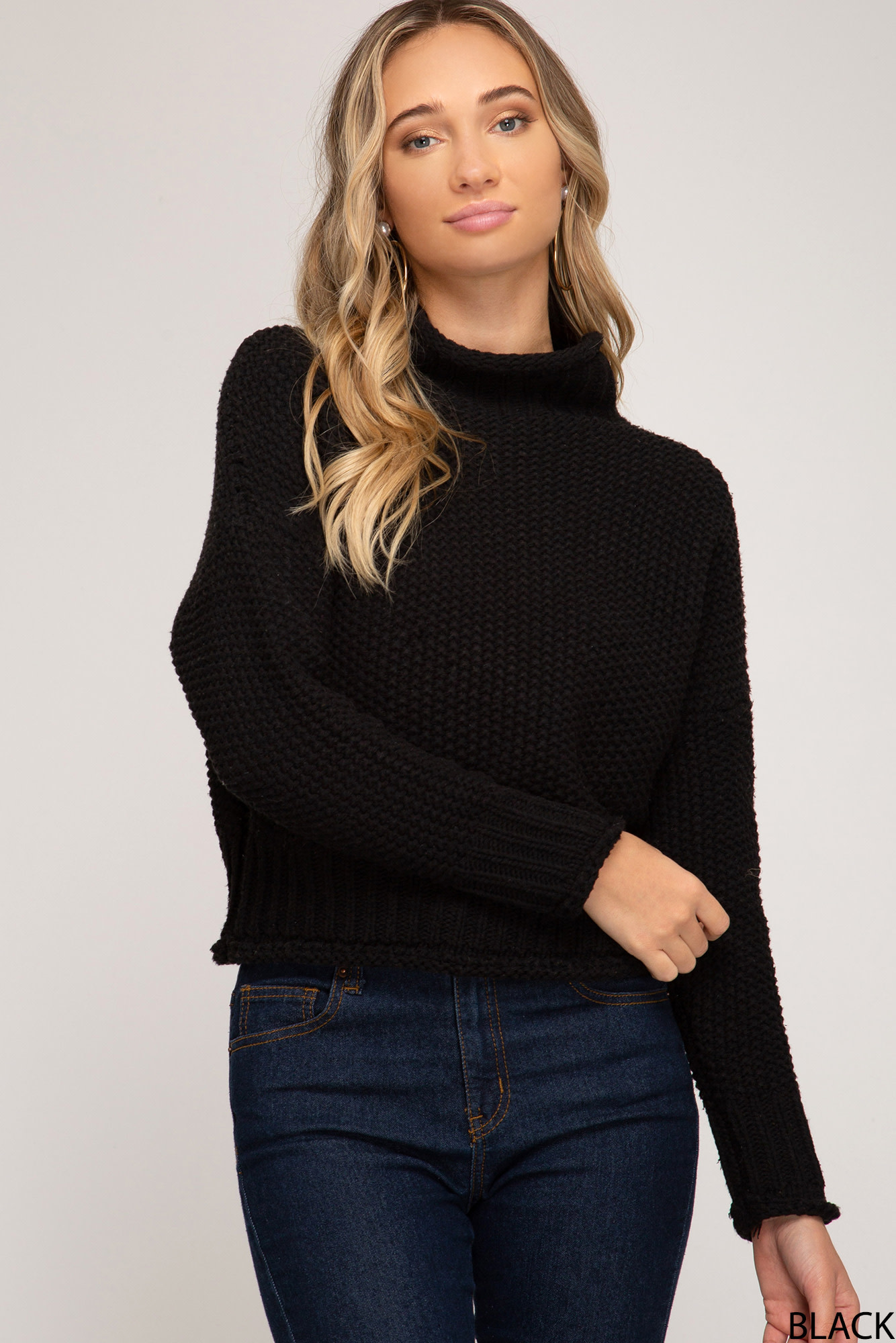She + Sky L/S turtleneck sweater
