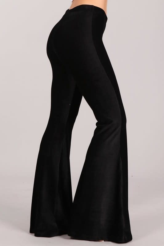 Chatoyant Curduroy Knit Flare Pants