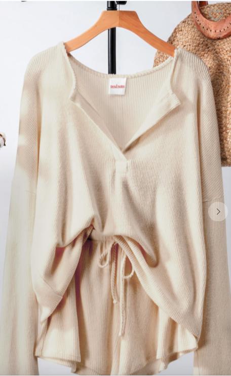 Trend:Notes Rib Knit Lounge Wear Set