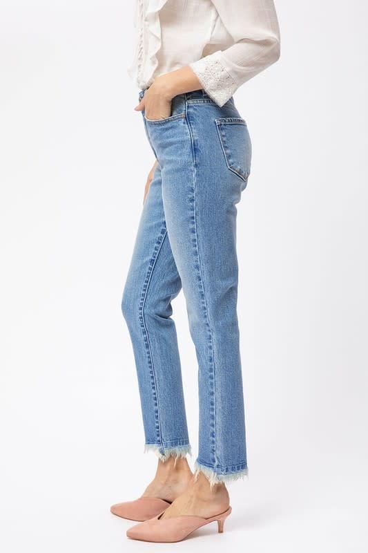 KanCan High Rise Straight Leg Jean