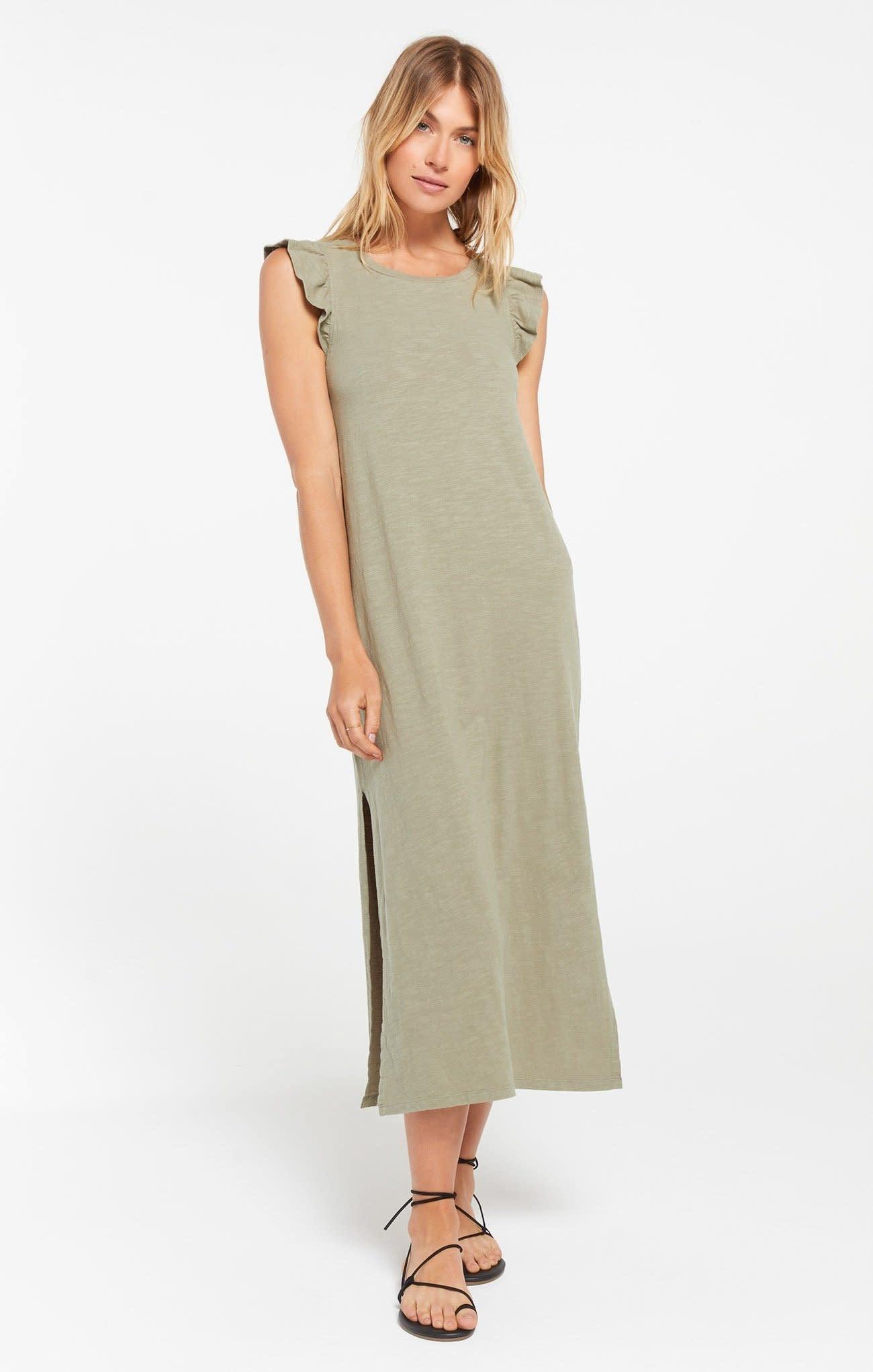 Z Supply Blakely Slub Ruffle Dress