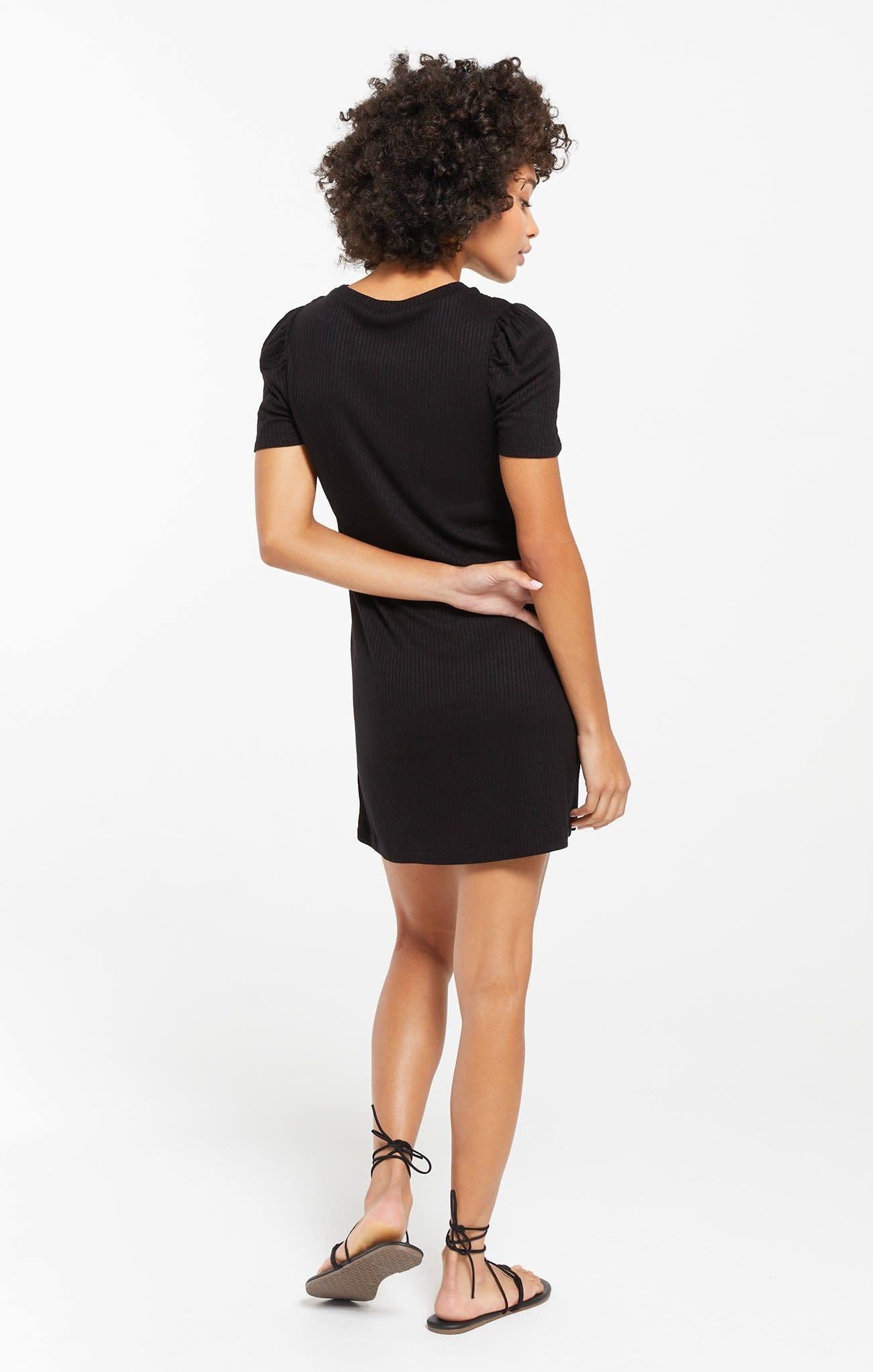 Z Supply Kamryn Puff Sleeve Rib Dress