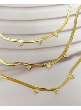 Bracha Shine Herringbone Necklace