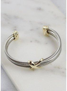 Caroline Hill Tessa Three Row Cable Bracelet