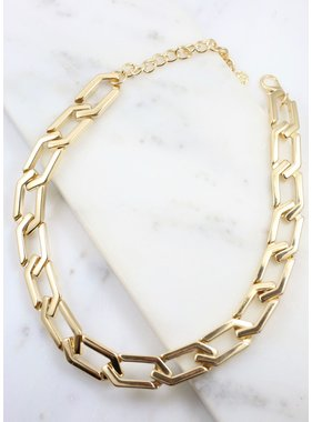 Caroline Hill Artie large link necklace