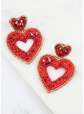Caroline Hill Darling Embellished Heart Earring