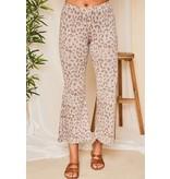 Peach Love California Animal print long knit pants