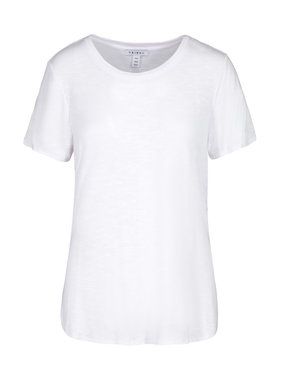 Tribal Short sleeve crew neck tee with side slit