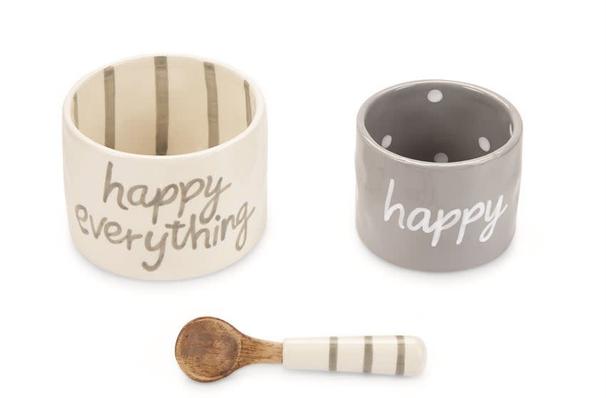 Mud Pie Happy Nested Dip Cup Set