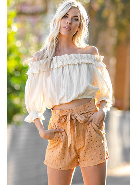 Glam Ruffle off the shoulder top