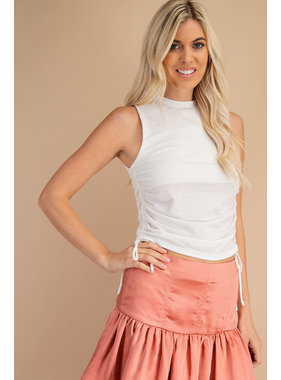 Glam High Collar Ruched Tank