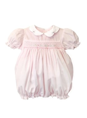 Renzo Hand Embroidered Smocked Bubble