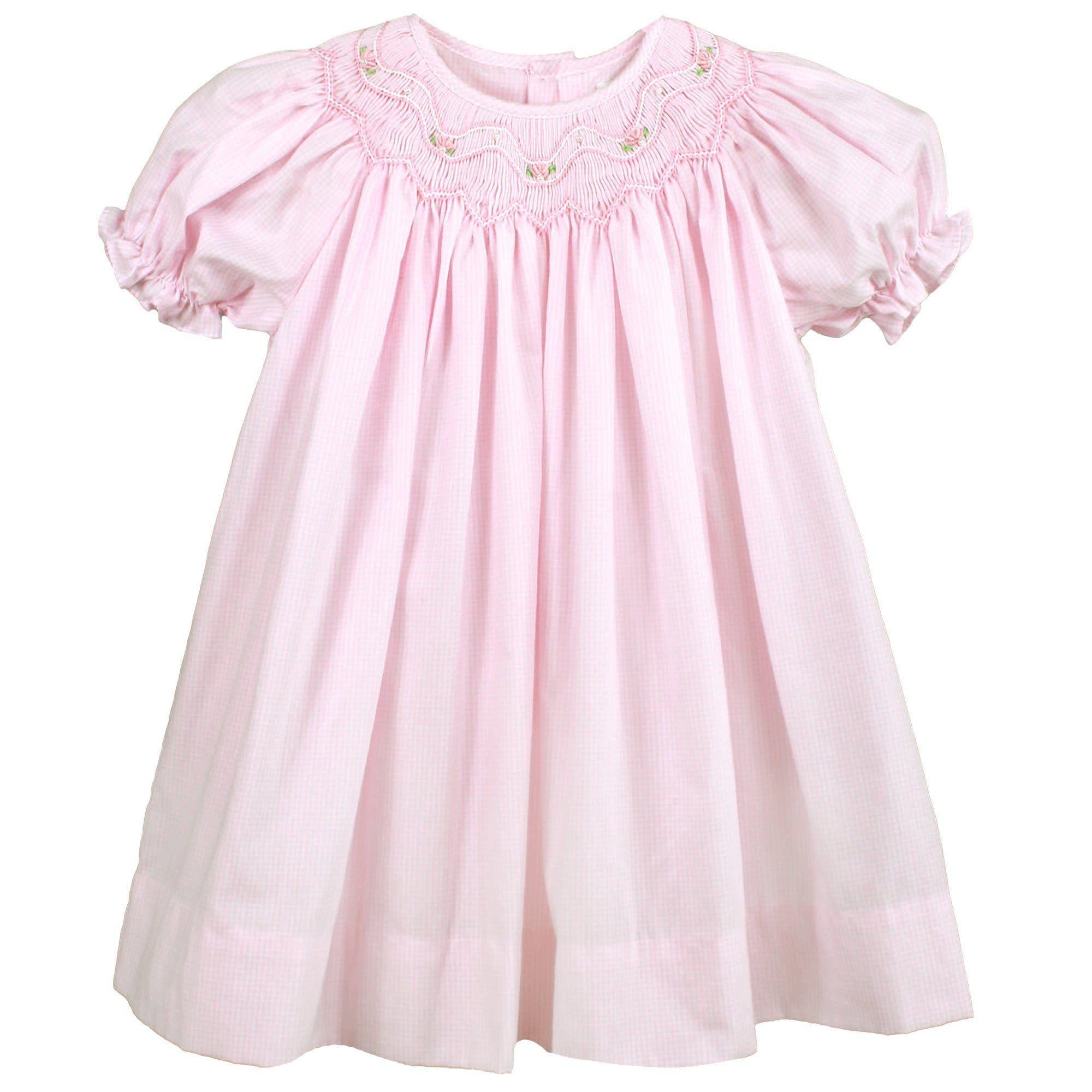 Renzo Bishop Zig Zag Smocked Dress