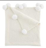 Mud Pie Ivory Chenille Blanket