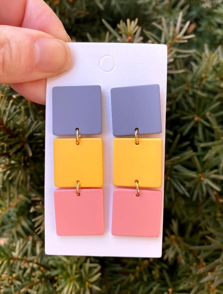 Baubles by B Spring block dangle earring