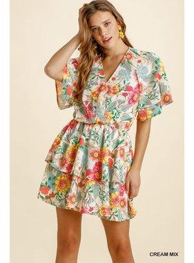Umgee Floral Printed Dress