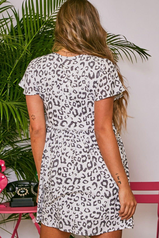 Peach Love California Animal Print Woven Dress
