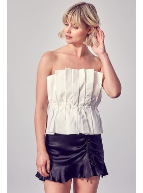 Do + Be Collection Ruffle Open Shoulder Top