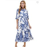 Pretty Follies Blue Tiered Dress