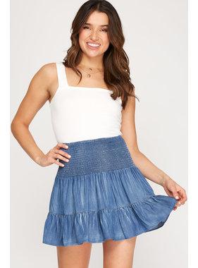 She + Sky Chambray skirt