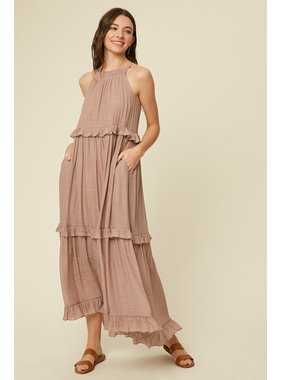 Listicle Halter Neck Maxi Dress