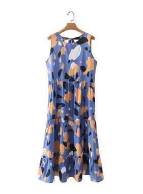 SundayUP Round Neck Sleeveless Dress