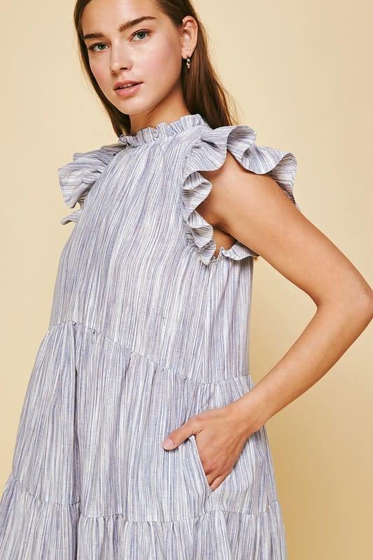 Pinch Tiered Midi Dress