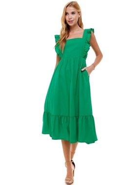 TCEC Sleeveless Dress with Ruffles
