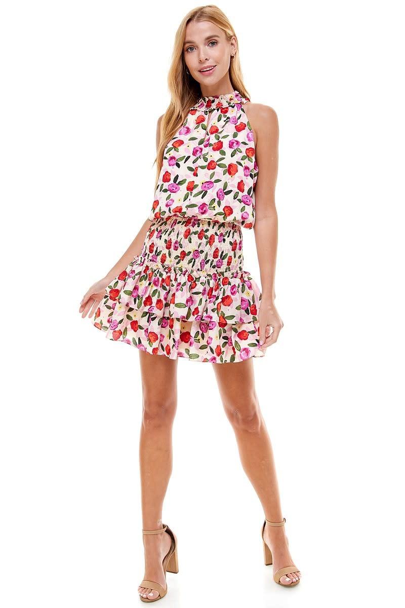 TCEC Printed Keyhole Dress