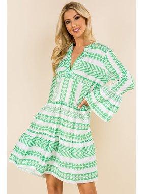 SundayUP Geometric Striped Dress