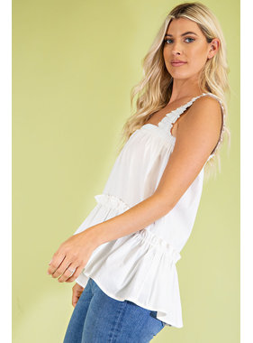 Glam Ruffled High Low Top