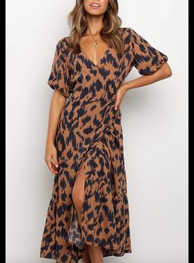 Esley Leopard Print Wrap 49668DYDN