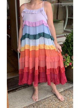 Storia Multicolored Tiered Dress