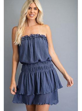 Glam Tube Smocked Mini Dress