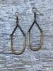 Gold Horseshoe Drop Earrings