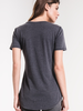Z-Supply V Neck Pocket Tee in Grey + White + Black