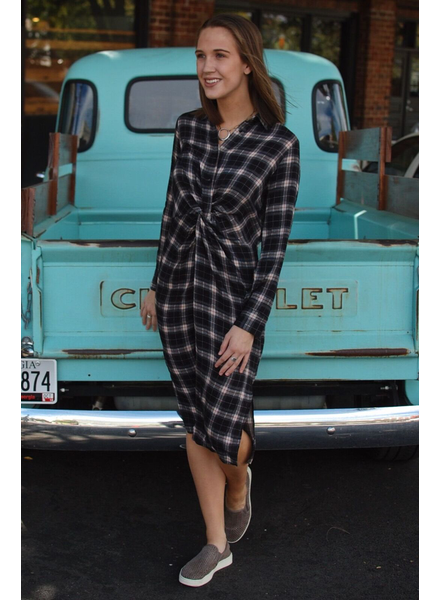 The Austin Plaid Midi Dress
