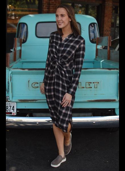 The Austin Plaid Midi Dress