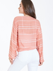 The Alice Printed Tie Front Blouse