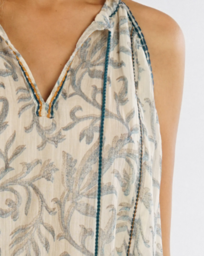 The Morgan Embroidered Swing Tank