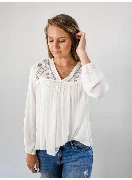 The Jasmine Embroidered Tunic