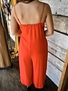 The Sinclair Front Tie Jumpsuit in Red