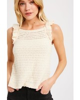 The Cameron Flutter Sweater in natural