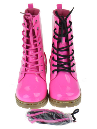 Girls Fashion Boots Patent Pom Pom Mid Calf Boot Many Size//Colours