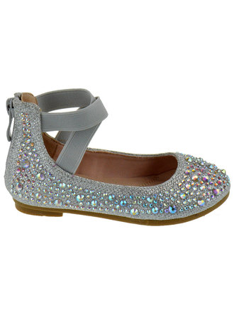 Baby Toddler Girls Lace Glitter Round Toe Mary Jane Strap Ballet Shoes Flats